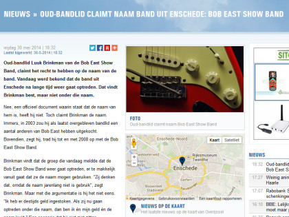 RTV Oost : Oud-bandlid claimt naam band uit Enschede: Bob East Show Band